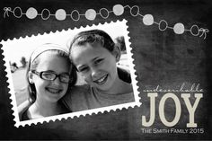 This digital card is customizable...both the photo and the text.  It is NOT too early to start thinking about Christmas photo cards!