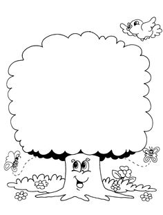 Ilkbahar Ağaç Boyama Sayfaları Bahattinteymuriom