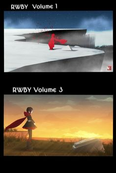 RWBY Volume 1 and Volume 3 Comparison, how times have changed