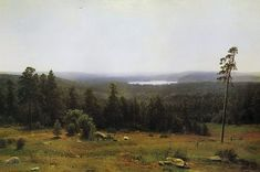 Russian Painter: Ivan Shishkin, (1832-1898)  'The Forest Horizons'  1884    Oil on Canvas