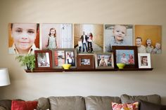 photo wall - For Morgan's living room?