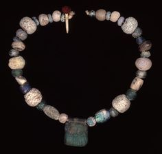 Necklace 800-300 BC Phoenician Central pendant probably cast in open mould, in the form of the head of Bes (Source: The British Museum)