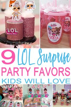 LOL Surprise Party Favors You are invited…to see the best LOL Surprise Doll party favors! Find the coolest party favor ideas for your upcoming LOL [. Birthday Surprises For Friends, Birthday Surprise Kids, Kids Birthday Themes, Birthday Gifts For Kids, 6th Birthday Parties, Girl Birthday, Birthday Presents, 7th Birthday Party For Girls Themes, Home Birthday Party Ideas