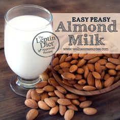 Easy Peasy Almond Milk - Making your own almond milk is MUCH healthier (and tastier) than buying it in the store. It's super easy to do too!