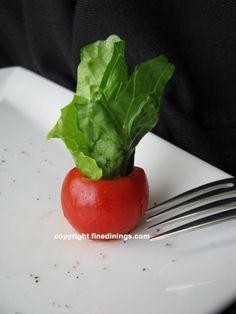 Cherry Tomato Bowl Garnish