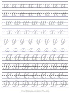 Printable Brush Lettering Practice Guide