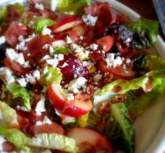 The English Kitchen: Nectarine Salad with a Strawberry Balsamic Dressing
