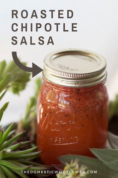 This post will share the canning recipe and tutorial for roasted chipotle salsa. Canning Homemade Salsa, Salsa Canning Recipes, Easy Canning, Homemade Chipotle, Canning Salsa, Canning Tomatoes, Chipotle Salsa Recipe, Roasted Salsa Recipe, Roasted Tomato Salsa