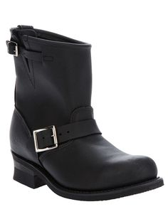 Black leather biker boot from Frye 208