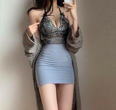 Korean Girl Fashion, Ulzzang Fashion, Kpop Fashion Outfits, Edgy Outfits, Korean Outfits, Cute Casual Outfits, Pretty Outfits, Dress Outfits, Girl Outfits