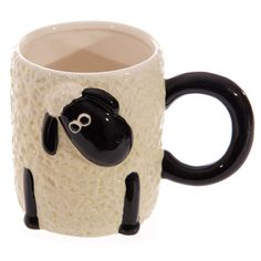 Fun Coffee Mug Cartoon Sheep Design Countryside by getgiftideas