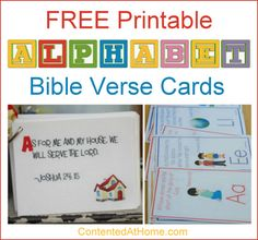 Choose from seven different sets of ABC Bible verse cards to help your preschoolers learn Scripture as they learn the alphabet.