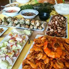 I'm on a seafood diet. When I see food, I eat it.