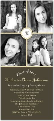 graduation invitations, Senior Circle