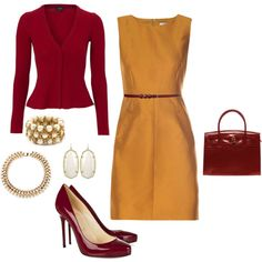 mustard and red--I would have never put together, butlooks great!