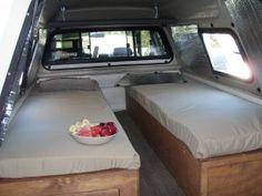 Build page of truck bed camper setup.