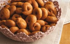 Greek Cookies, Cake Cookies, Greek Desserts, Greek Recipes, Easter Cookies, Bagel, Cookie Recipes, Biscuits, Food And Drink
