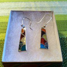 Earrings (Tribal Pattern – Square)