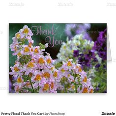 Pretty Floral Thank You Card