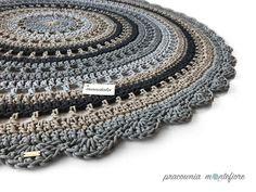 DYWAN ZE SZNURKA 180 cm okrągły MANDALA - Pracownia-Montefiore - Dywany