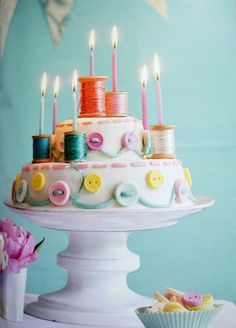 Button Cake | 25 Craft-Inspired Desserts That Are (Almost) Too Cute ToEat