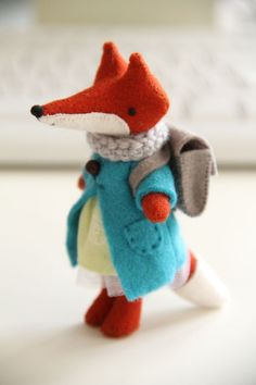 felt fox - love the backpack!