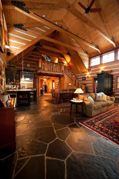 StoneMill Log & Timber Homes Picture Gallery - Leuthold Project