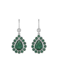 Y2PT2 Penny Preville Pear-Shaped Emerald Drop Earrings