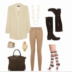 #MondayMotivation: Loving this outfit for work. Pair a cute button down with your favorite pair of boots and compression socks for a comfortable, flawless look.