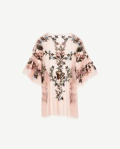 Image 8 of EMBROIDERED TULLE TOP from Zara