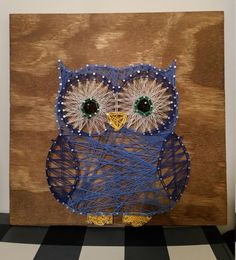 Custom Big Owl String Art Sign by RubyOwlDesigns on Etsy
