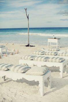 A rustic beach wedding in the Bahamas.