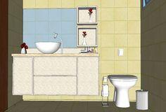Projeto  Armário de banheiro - Estudo de mobiliário:  cor, material e estilo