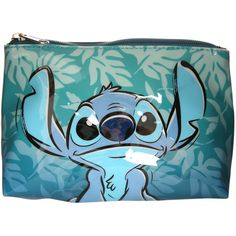 Disney Lilo & Stitch Hawaiian Cosmetic Bag | Vinyl cosmetic bag with a blue Hawaiian Stitch design. Zipper closure.