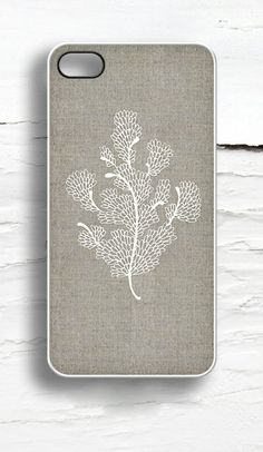 Floral on Linen iPhone Case I LIKE THIS VERY SIMPLE BUT ELEGANT