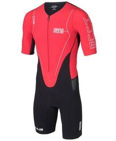 HUUB Core Full Sleeve Triathlon Suit - Mens Black Red. Tri SuitTriathlon  ClothingBicep ... 73e691544