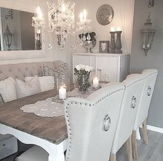 Read information on dining room furniture colors P Dining Room Table Decor, Dining Room Design, Dining Room Furniture, Living Room Decor, Dining Rooms, Room Chairs, Dinning Room Ideas, Dinning Nook, Cosy Dining Room