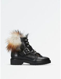 Carvela Ladies Black Sly Leather Boots