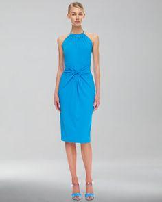 My new favorite summer dress. Matte Jersey Necklace Dress by Michael Kors at Neiman Marcus.