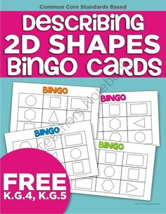 This freebie bingo card game helps your kinders apply describing the number of sides and corners using icons for each shape (rectangle, triangle, circle, square, hexagon).
