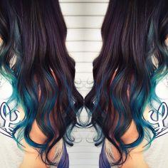 Blue Lagoon Princess #latergram #balayage #pravana #pravanablue #blueombre #haircolorist