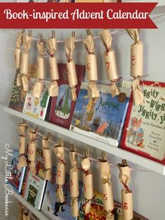 Book-inspired Advent Calendar made of Christmas crackers by My Little Bookcase