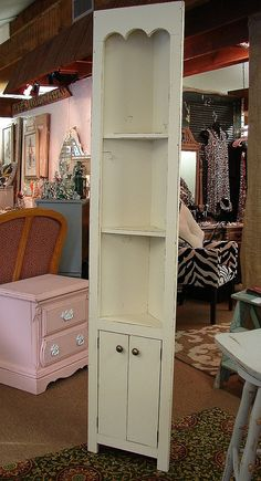 Shabby Chic Vintage Corner Shelf Turquoise Recycle Upcycle