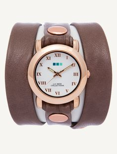 La Mer Watches: Mushroom Rose Gold Triple Wrap - More basic, but love these colours and it's an easy watch to stack with bracelets...