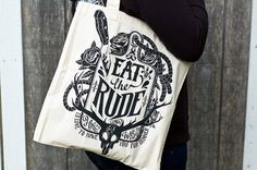 Hannibal Bag Eat The Rude Hannibal Tote by UnicornEmpirePrints  I want, no, need, to own this.