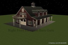 Okay, if I really want to dream, I will have this 3 bedroom house built over a 5 Stall horse Barn.