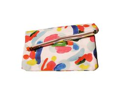 Infinite Candies Abstract Zipper Clutch by kindah on Etsy, $46.00