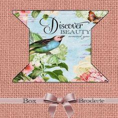 Cartonnette plastifiée pour dentelles ou rubans : Boîtes à Couture, rangements par broderiesab
