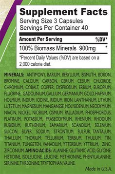 Ancient Earth Minerals Nutritional Information (do some homework on this)