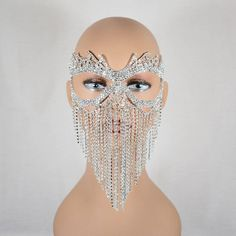 Bridal mask - Clear Rhinestone Silver Base or AB Rhinestone Silver Base Masquerade Mask, Wedding mask, Mardi Gras Mask, Queen Mask, New year party mask – Bridal mask Masquerade Party Outfit, Masquerade Prom, Masquerade Masks, Mascarade Mask, Bridal Mask, Black Rhinestone, New Years Party, Metal, Photoshop